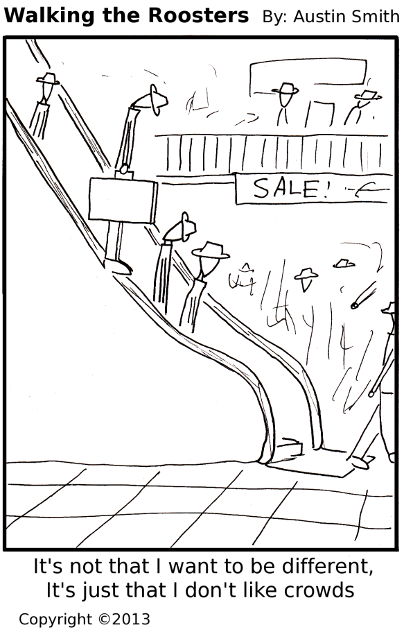 escalator crowds