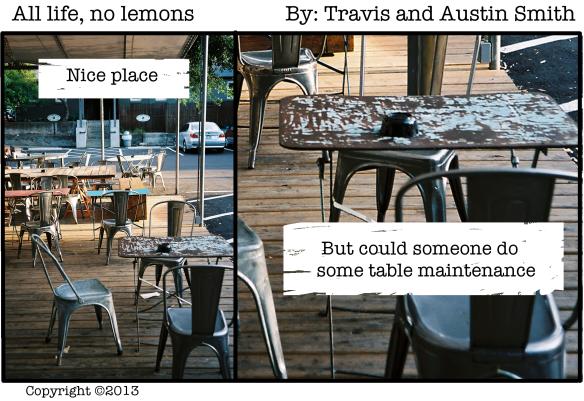 rusty table
