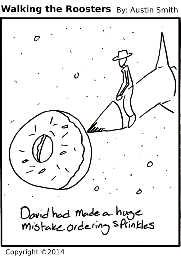 into the doughnut