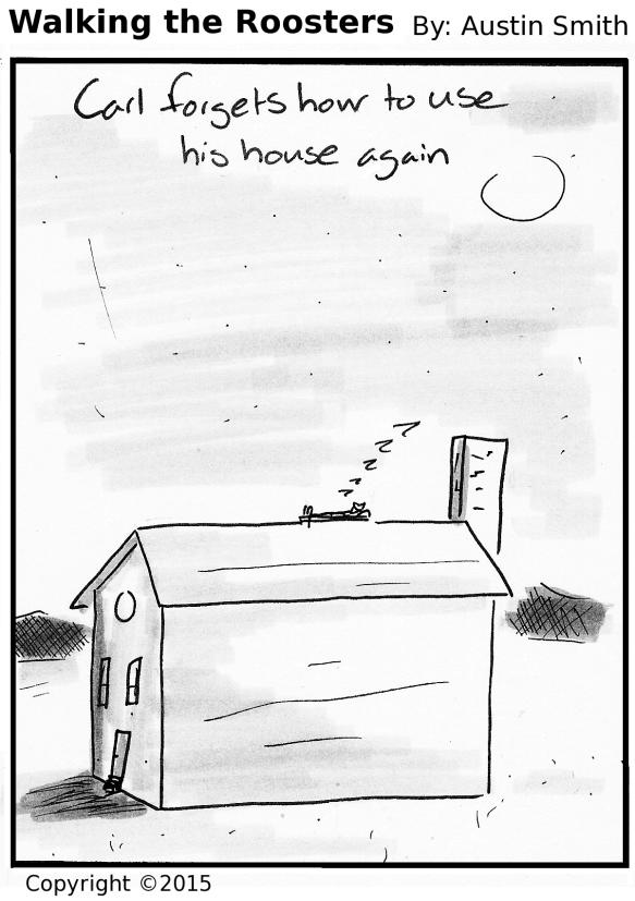 on a house