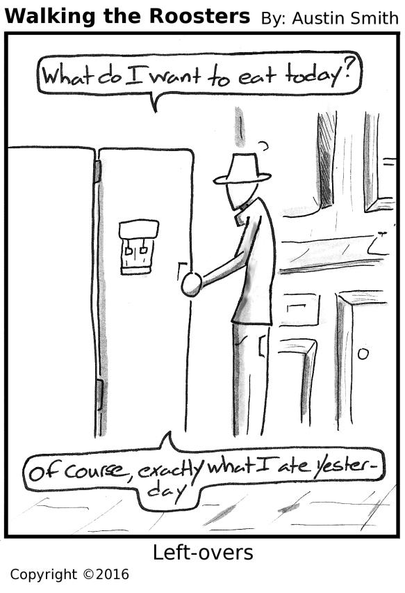 into the fridge